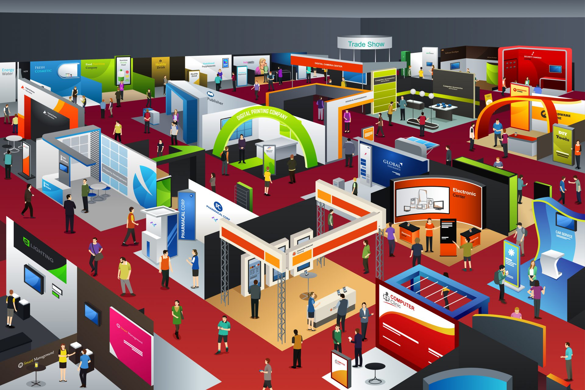 trade show floor vector art