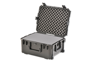 waterproof carry case with foam open