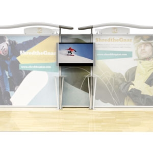 replacement graphics for 10x20 ft Athenia wave top trade show display