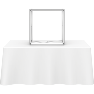 2.5 Square Table Top Pop Up Display frame center