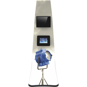 2×4 IPad And Monitor Mount Curved Kiosk front view