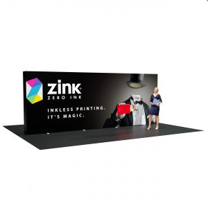 20 Ft Full Height Tension Fabric Display left view