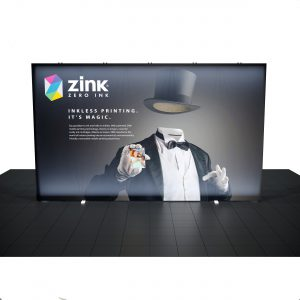 12.5′ Backlit Tension Fabric Display front