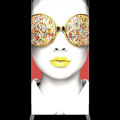 3'x6′ Rectangular Light Box Fabric Display front