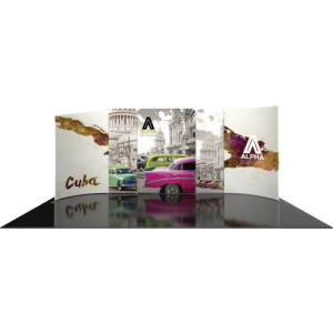 10×20 Curved Reconfigurable Trade Show Display Kit front