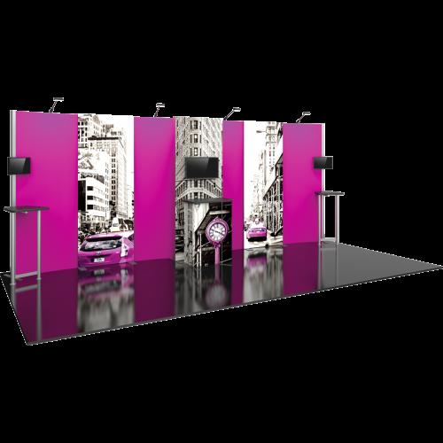 10x20 HP9 Hybrid Modular Backwall Kit left