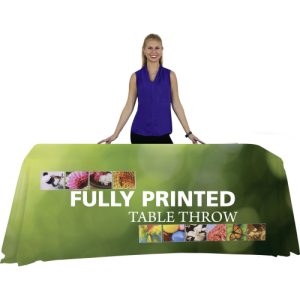 8' Table Table Throw - Full Color with model