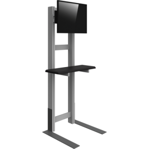 Medium Monitor Kiosk with Shelf left