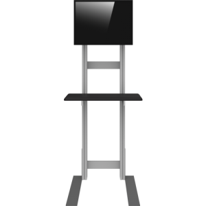 Medium Monitor Kiosk with Shelf front