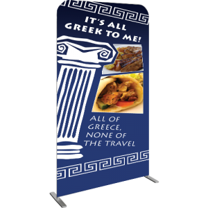 Gemini Double-Sided Non-Retractable Tension Fabric Banner Stand left