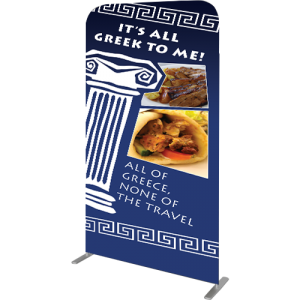 Gemini Double-Sided Non-Retractable Tension Fabric Banner Stand right