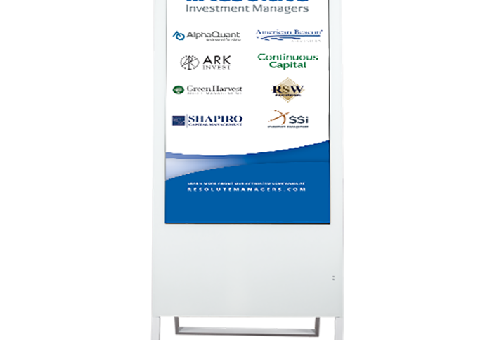north star digital banner stand front