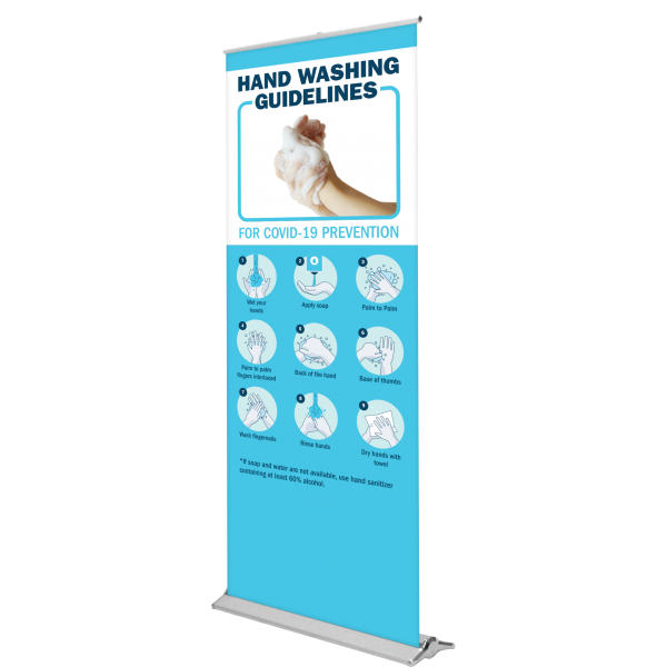 libra lite retractable banner stand right