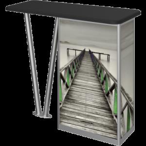 Linear Modular V Leg Counter right side