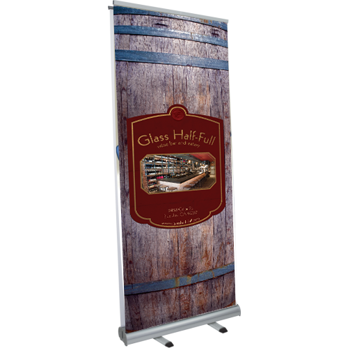 Aquila Double-Sided Banner Stand left