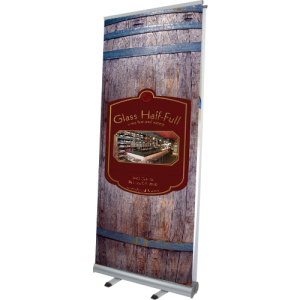Aquila Double-Sided Banner Stand right
