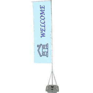 telescopic outdoor flag right