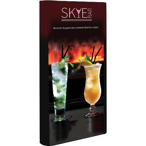 Lyra Double-Sided Backlit Non-Retractable Tension Fabric Banner Stand short graphic left
