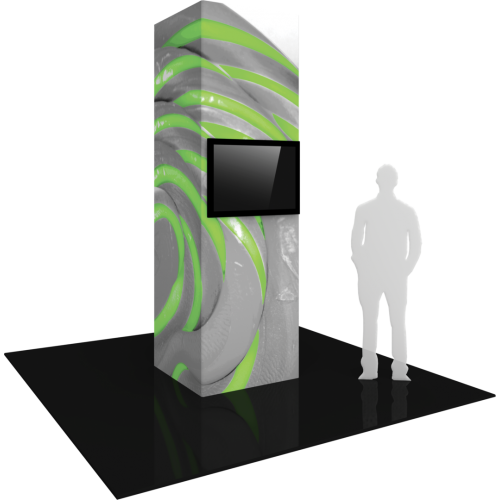 Four Sided 3ft x 10ft Monitor Tower left