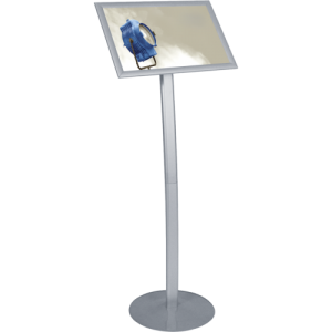 Silver Aluminum Information Stand left
