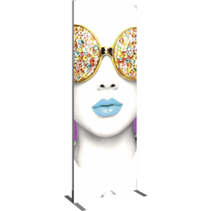 3'x8' Rectangular Light Box Fabric Display left