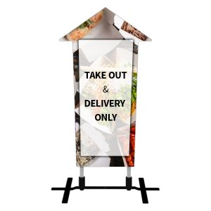 arrow outdoor sign branded front