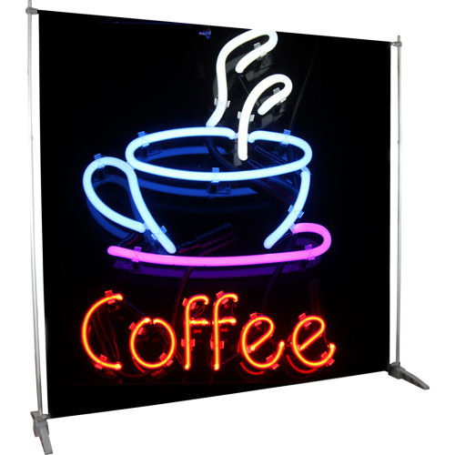 Sagittarius Telescopic Retractable Banner Stand left