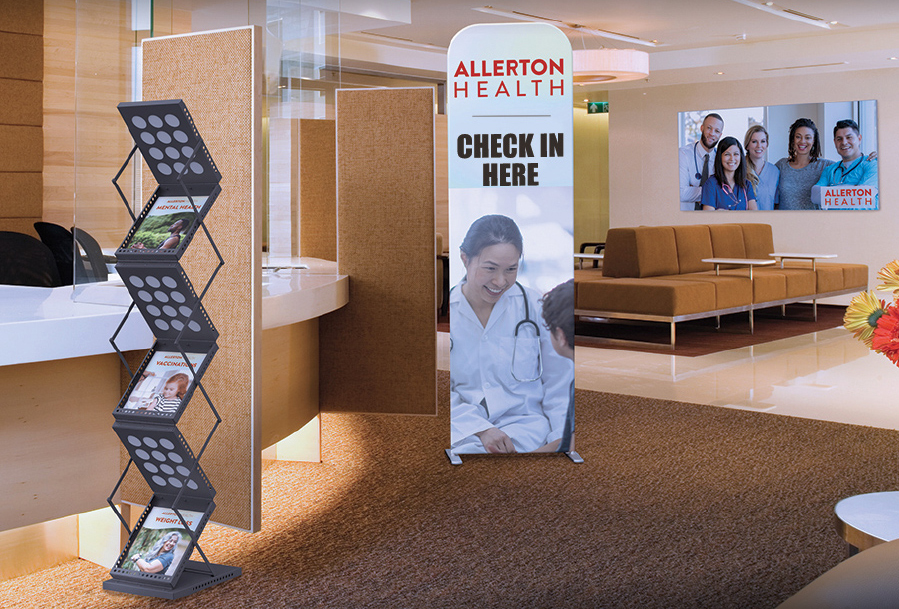 information centers display options