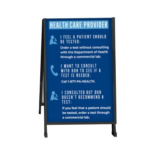 outdoor double sided sign front