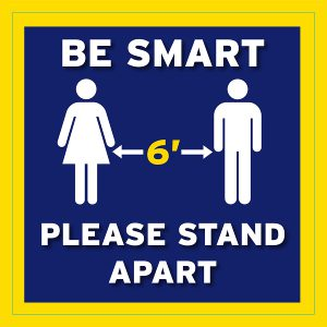 Be Smart Social Distancing Floor Decal