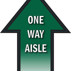 One-Way Aisle Arrow Floor Decal
