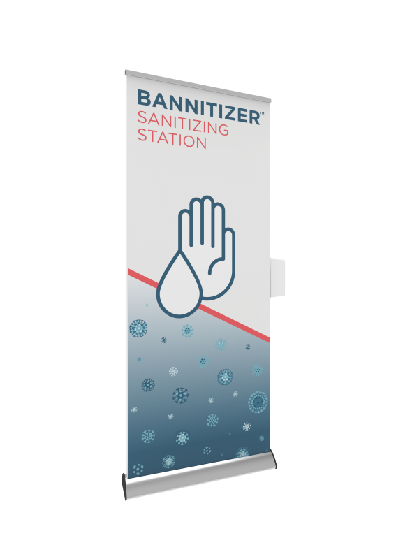 Bannitizer Sanitizing Station Kit left