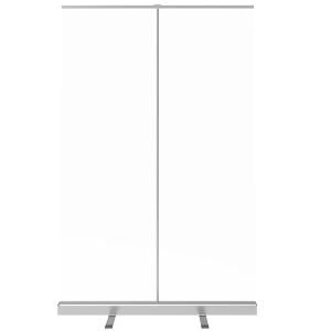 47.25 inch retractable banner shield front