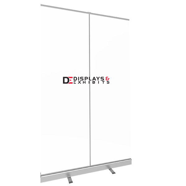 47.25″ Retractable Banner Shield with Printing left