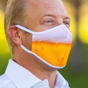 men's beer mask left side