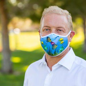 Men's Aquatic Face Covering Right