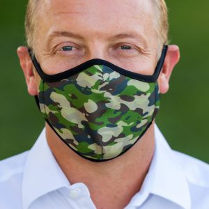 Men's Cammo Face Covering front