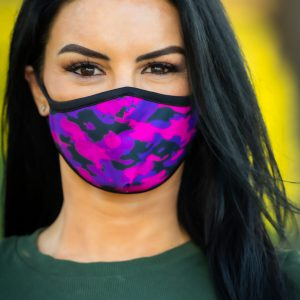 Women's Sassy Cammo Face Covering front