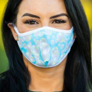 Women's Bubbles Face Covering front