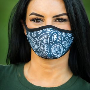 Women's Paisley Face Covering front