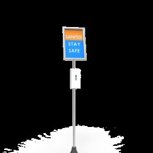 Tube Sanitizer Stand left