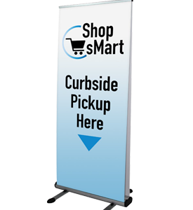 Andromeda Double-Sided Banner Stand right